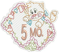 Baby 5 Months embroidery design