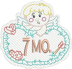 Baby 7 Months embroidery design
