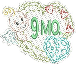 Baby 9 Months embroidery design