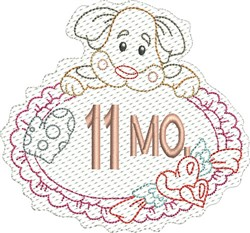 Baby 11 Months embroidery design
