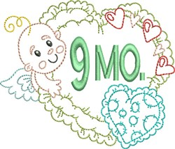 Baby 9 Month embroidery design