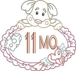 Baby 11 Month embroidery design