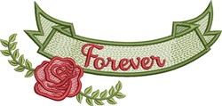 Forever Rose embroidery design