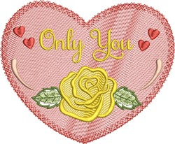 Only You Heart embroidery design