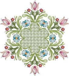Tulip Quilt embroidery design