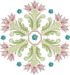 Tulip Circle embroidery design