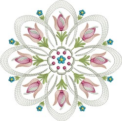 Circle Of Tulip embroidery design