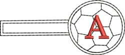 Soccer Key Fob A embroidery design