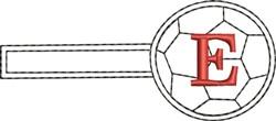 Soccer Key Fob E embroidery design