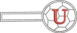 Soccer Key Fob U embroidery design
