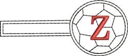 Soccer Key Fob Z embroidery design
