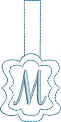 Monogrammed Keyfob Letter M embroidery design