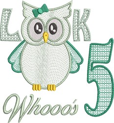 Look Whooos 5 embroidery design
