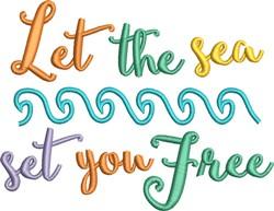 Sea Set You Free embroidery design