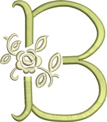 Tuscan Rose Monogram B embroidery design