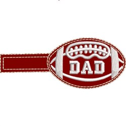 Football Key Fob Dad embroidery design