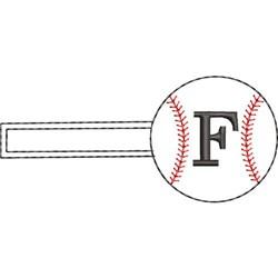 Baseball Key Fob F embroidery design