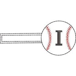 Baseball Key Fob I embroidery design