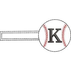 Baseball Key Fob K embroidery design