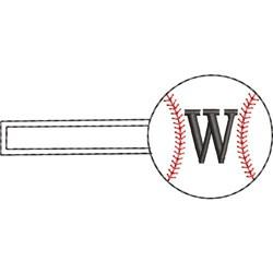 Baseball Key Fob W embroidery design