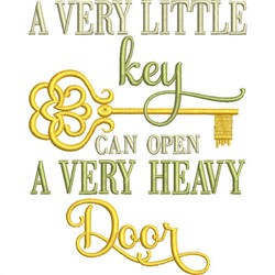 Very Little Key embroidery design