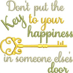 Key To Happiness embroidery design