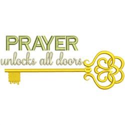 Prayer Unlocks Doors embroidery design