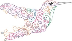 Profile Hummingbird embroidery design