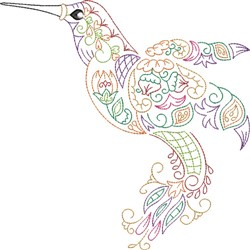 Hummingbird Profile embroidery design