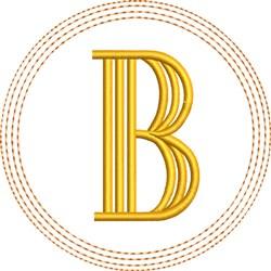 ITH B Coaster embroidery design