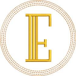 ITH E Coaster embroidery design