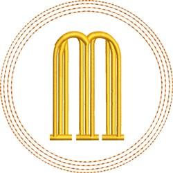 ITH M Coaster embroidery design