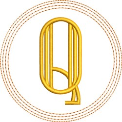 ITH Q Coaster embroidery design