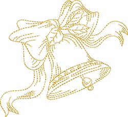 Christmas Stipple Bell embroidery design
