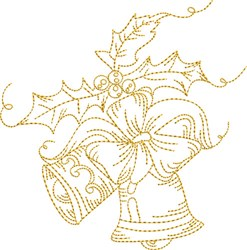 Stipple Jingle Bells embroidery design