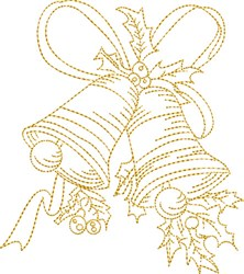 Stipple Bells embroidery design