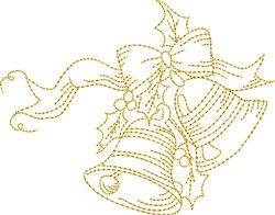 Christmas Stipple Jingle Bells embroidery design