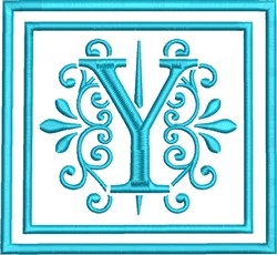 Y Monogram embroidery design
