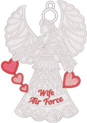 FSL AirForce Wife embroidery design