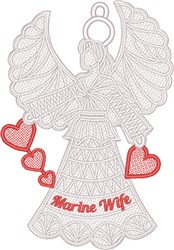 FSL Marine Wife Angel embroidery design