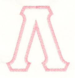 Greek Lambda Applique embroidery design