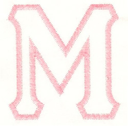 Greek Mu Applique embroidery design