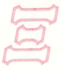 Greek Xi Applique embroidery design