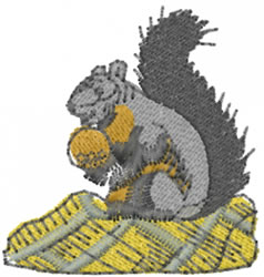 Squirrel embroidery design