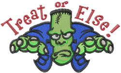 Treat or Else! embroidery design