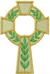 Catholic Cross embroidery design