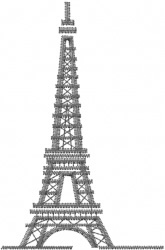 The Eiffel Tower embroidery design