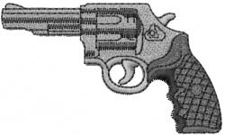 Pistol embroidery design