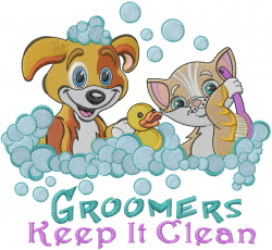 Groomers Bath embroidery design