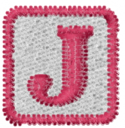 Baby Block J embroidery design